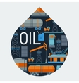 Industrial background design with oil and petrol vector image