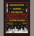 new york manhattan brooklyn vector image