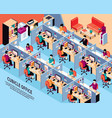 office workplace isometric vector image