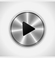 Realistic Play metal button eps10 Isolated vector image