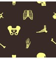 Seamless background with human bones vector image