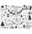 winter symbols vector image