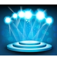 Background with stage and light vector image vector image