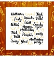 Halloween Greeting Lettering vector image