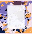 purple lilac orange brown ink splashes ellipse vector image