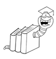Book worm cartoon vector image