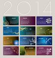 2014 Card Calendar vector image