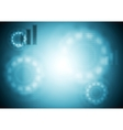 Blue tech blurred background vector image vector image