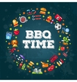 Invitation template of flat design barbecue vector image