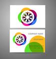 team company logo business card template vector image