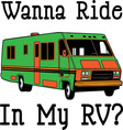 Wanna Ride vector image