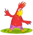 Funny Parrot Surfing vector image