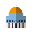 Temple icon Israel culture design graphic vector image