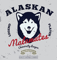 Alaskan malamute club Tee graphic vector image