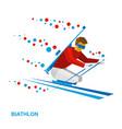 biathlon - disabled skier vector image