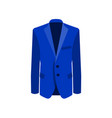 blue man suit on white vector image