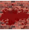 bricks full of blood vector image