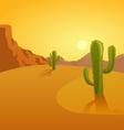 Cartoon of a desert background vector image