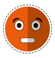 cartoon surprised emoticon funny vector image