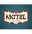 Motel roadsign vector image