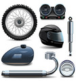 Motorcycle Spares Icons vector image