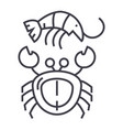 seafood line icon sign on vector image