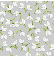 seamless pattern with snowdrop flowers vector image