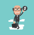success and happy businessman vector image