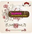 Romantic Super Floral Set vector image