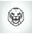 Lion face logo emblem template vector image vector image