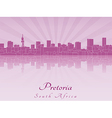 Pretoria skyline in purple radiant orchid vector image vector image