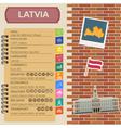 Latvia infographics statistical data sights vector image