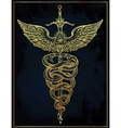 Caduceus symbol of god Mercury vector image