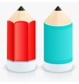 modern two pencil icons vector image