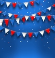 Bright Background with Bunting Flags for American vector image