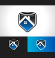 home roof shield security icon vector image