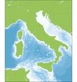 Italian Republic map vector image