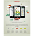 Mobile phones infographics vector image