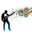 music men play a guitar vector image
