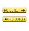 No Outlet Signs vector image