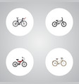 realistic competition bicycle old adolescent and vector image