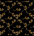 seamless pattern with gold flowers vector image