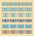 set of decorative tile borders vector image