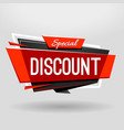 discount geometric banner vector image vector image