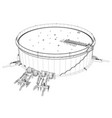 wire-frame oil tank vector image