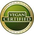 vegan certified icon vector image vector image
