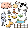 Animal farm vector image