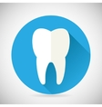 Stomatology and Dental Treatment Symbol Tooth Icon vector image