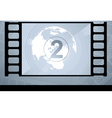 film with number vector image vector image