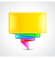 Colorful origami banner vector image